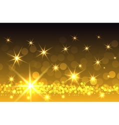 Yellow sparkling starburst christmas background vector