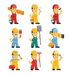 Technician  working a set of people vector