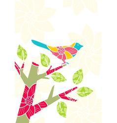 bird on tree branch vector image