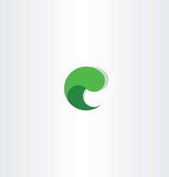C letter c green sign logo element icon design vector