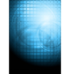 Blue technology background with square elements vector