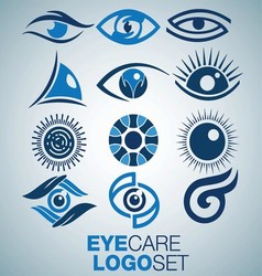Eye care logo set vector