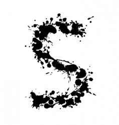 alphabet ink s vector image