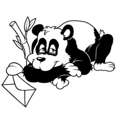 amorous panda vector image vector image