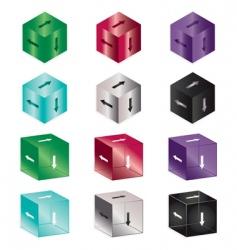 Arrow cubes vector