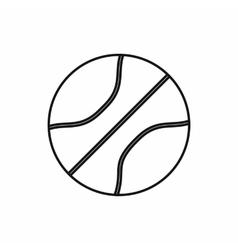 Basketball ball icon outline style vector