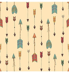 Bohemian hand drawn arrows seamless pattern vector image vector image