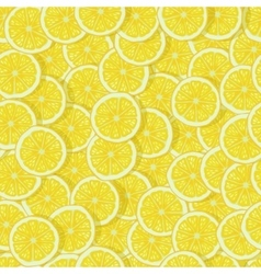 Bright lemon slices seamless pattern vector