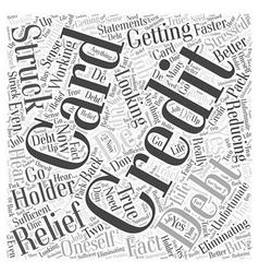 Credit card debt relief word cloud concept vector