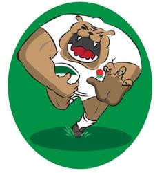 English rugby bulldog vector