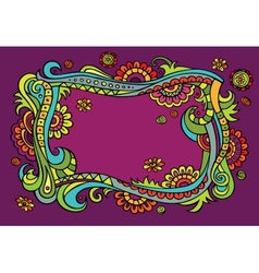 Fantasy fairy-tale floral frame vector image