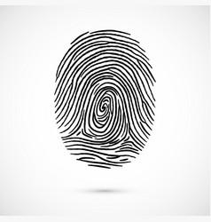 fingerprint icon identification isolated on white vector image