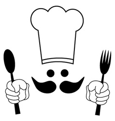 Funny chef vector image vector image