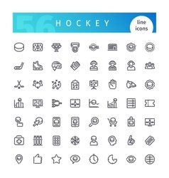 Hockey Line Icons Set vector image vector image