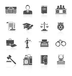 Law icon set vector