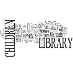 Library events text background word cloud concept vector
