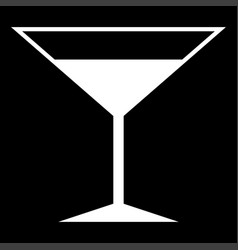 Martini glass the white color icon vector