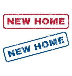 New home rubber stamps vector
