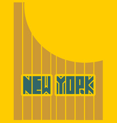 New york city name typography poster concept vector
