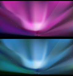 Nothern blue aurora backgrounds vector