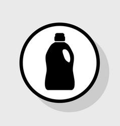 Plastic bottle for cleaning flat black vector