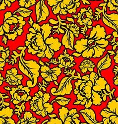 Russian national pattern Hohloma Traditional Folk vector image