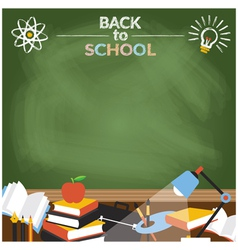 School education objects with copy space vector