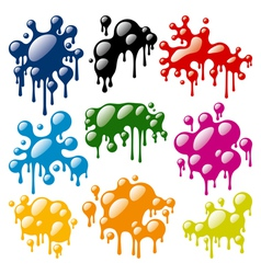 set of color blots vector image vector image