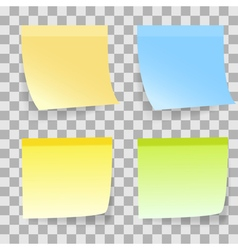 Sticky note transparent vector