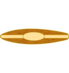 Surfboard horizontal vector
