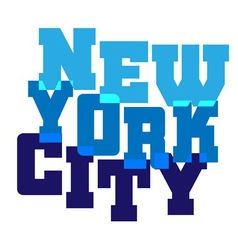 T shirt typography graphics New York blue vector image vector image