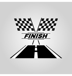 The race flag icon Finish symbol Flat vector image vector image