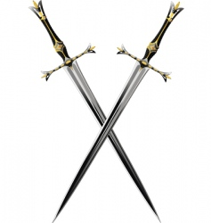 two crossbones sword vector image vector image