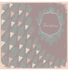 Wedding card or invitation with small abstract vector image vector image