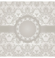 Seamless vintage wallpaper pattern with frame vector