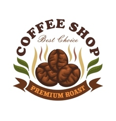 Coffee shop cafe emblem vector