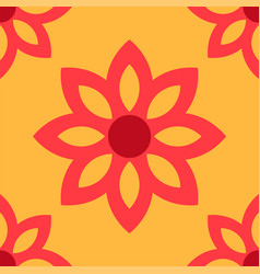 simple flower pattern background vector image