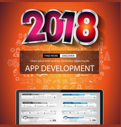2018 new year infographic and business plan vector image