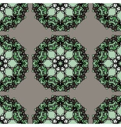 Green mandalas seamless wallpaper indian vector