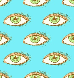 Sketch eye in vintage style vector