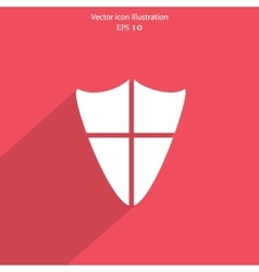 Shield web icon vector