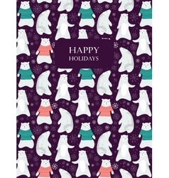 Polar bear card vector