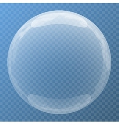 Nice bubble with glare icon vector
