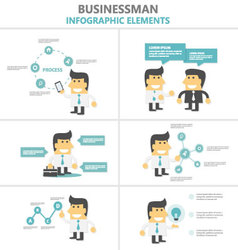 Business activity infographic elements flat design vector