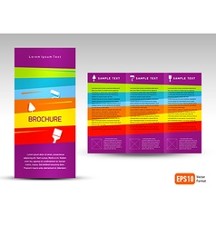 Creative design brochure tri-fold layout design vector