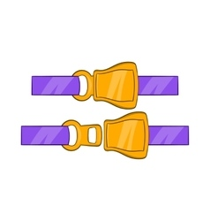 Aviation seat belt icon cartoon style vector