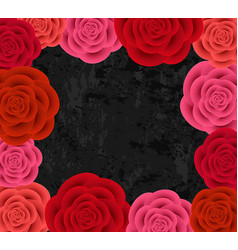 Abstract roses frame vector