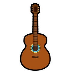 Acoustic guitar instrument vector
