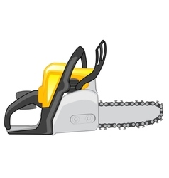 Chainsaw on white background vector