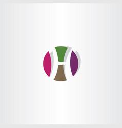 Circle h icon letter logo vector